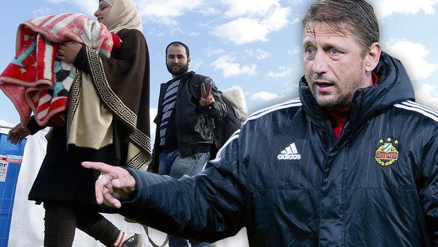 """Zoran Barisic: """"Ich bin gegen Flüchtlingsstopp!"""" (Bild: APA/GEORG HOCHMUTH, APA/ERWIN SCHERIAU)"""