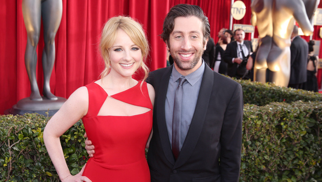 Melissa Rauch und Simon Helberg (Bild: Matt Sayles/Invision/AP)
