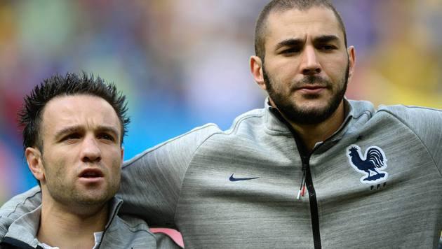 Mathieu Valbuena und Karim Benzema (Bild: AFP)