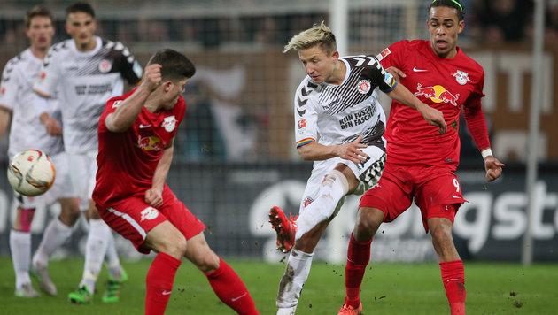 St. Pauli bezwingt Tabellenführer RB Leipzig 1:0 (Bild: GEPA)