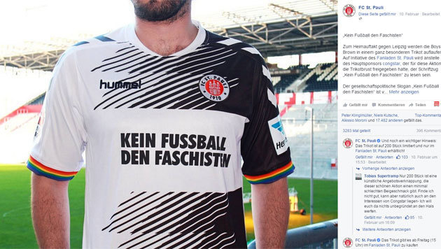 St. Pauli zieht gegen Faschisten zu Felde (Bild: Facebook.com)
