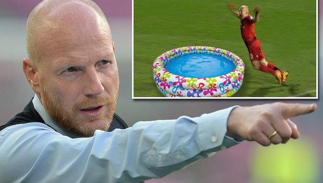 """""""Ungeheuerlich!"""" Sammer stellt sich vor Robben (Bild: GEPA, twitter.com)"""