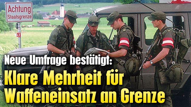 Klare Mehrheit f�r Waffeneinsatz an Grenze (Bild: Bundesheer)