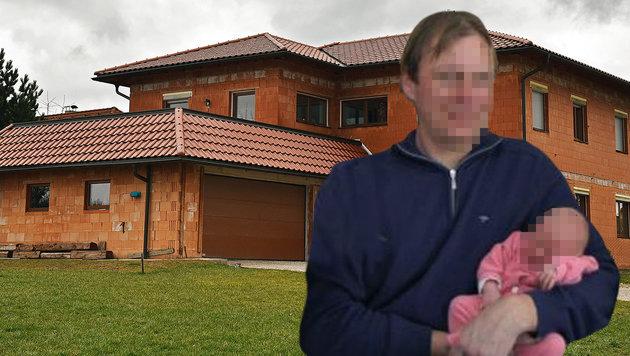 Klaus K., wie man ihn in seinem Heimatort kannte: lächelnd - mit einem Kind auf dem Arm (Bild: Markus Wenzel, Rotes Kreuz)