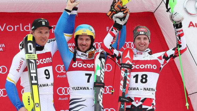 Naeba-Slalom: Marco Schwarz rast aufs Podest (Bild: GEPA)