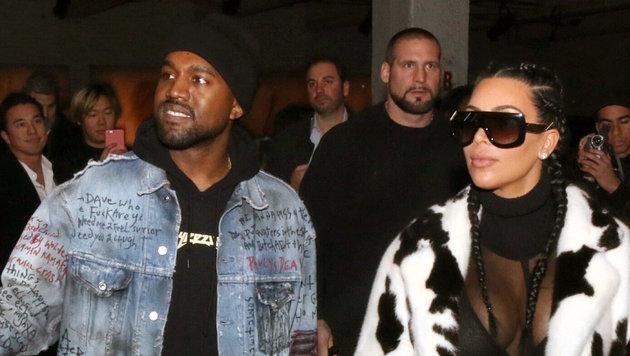 Kanye West mit Ehefrau Kim Kardashian (Bild: Viennareport)
