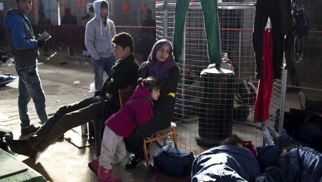Flüchtlinge in Griechenland (Bild: AP)