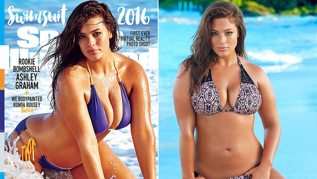 "Ahsley Graham schafft es aufs Cover der ""Sports Illustrated"". (Bild: Sports Illustrated, instagram.com/theashleygraham)"