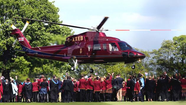 Der Helikopter, den Kate anforderte, steht der Royal Family für offizielle Reisen zur Verfügung. (Bild: Viennareport)