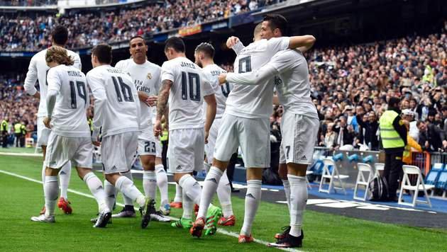 Jubel bei Real - das wünscht sich Zidane auch am Mittwoch (Bild: AFP or licensors)