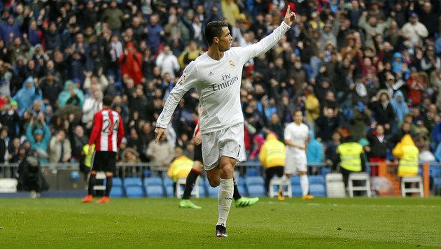 Die Offensive glänzt - wie hier Cristiano Ronaldo! (Bild: AP)