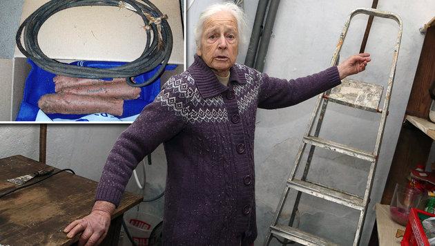 88-J�hrige findet Sprengstoff in der Speisekammer (Bild: Evelyn Hronek, APA/LPD K�RNTEN)