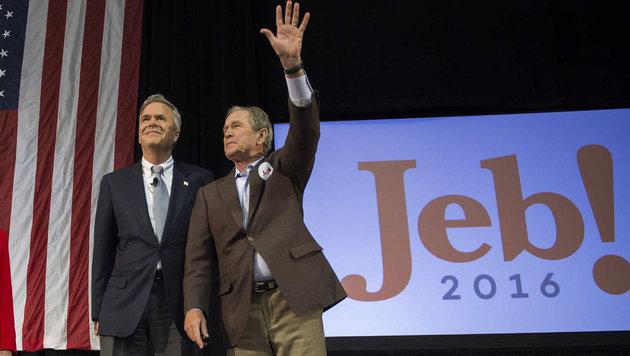 George W. Bush startet Wahlkampf für Bruder Jeb (Bild: AFP or licensors)
