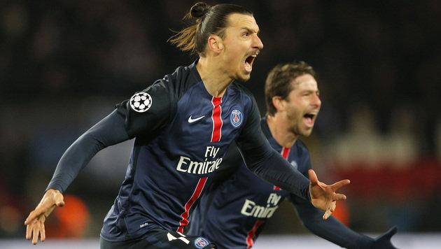 Ibrahimovic führt PSG zu knappem 2:1 gegen Chelsea (Bild: AP)