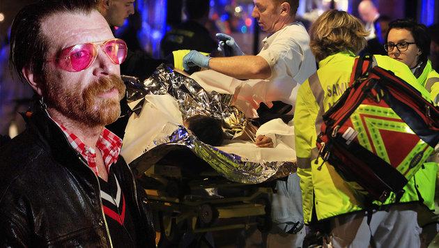 """Sänger Hughes: """"Jeder sollte eine Waffe tragen"""" (Bild: APA/AFP/GUSTAV MAARTENSSON, AP)"""