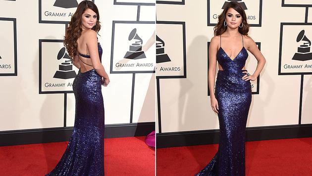 Auch Selena Gomez zeigte sich freizügig am roten Teppich. (Bild: Jordan Strauss/Invision/AP)