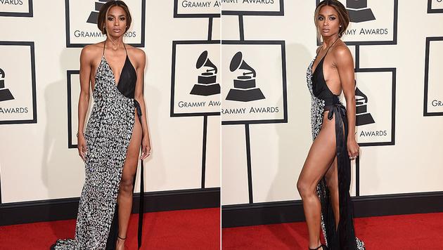 Ciara enthüllte bei den Grammys mehr, als sie verdeckte. (Bild: Jordan Strauss/Invision/AP)
