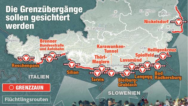 EU-Kommission will die Asyl-Obergrenzen kippen (Bild: Krone-Grafik)