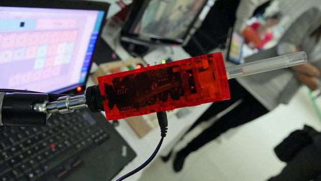 Christoph Veigl und sein Team vom Technikum Wien haben eine Open-Source-Mundsteuerung entwickelt. (Bild: Dominik Erlinger)