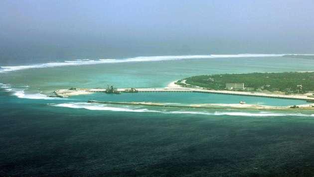 Die umstrittene Insel Woody Island im S�dchinesischen Meer (Bild: APA/AFP/STR)