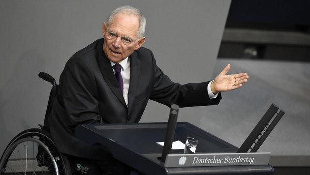 Finanzminister Sch�uble w�hrend einer Rede im Bundestag (Bild: AFP)