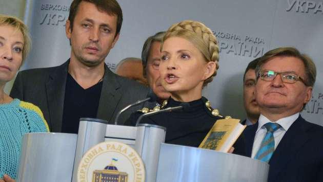 Ukraine: Timoschenkos Partei verl�sst Koalition (Bild: AFP)