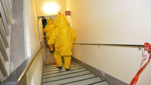 Giftige Chemikalie sorgt für Großeinsatz in Spital (Bild: MA 68 Lichtbildstelle)