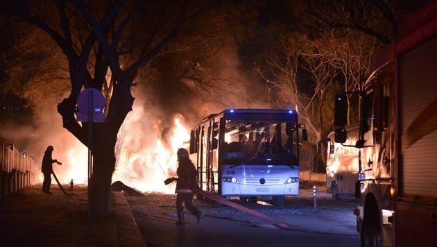 Ankara: 28 Tote bei Anschlag auf Militärkonvoi (Bild: AFP)