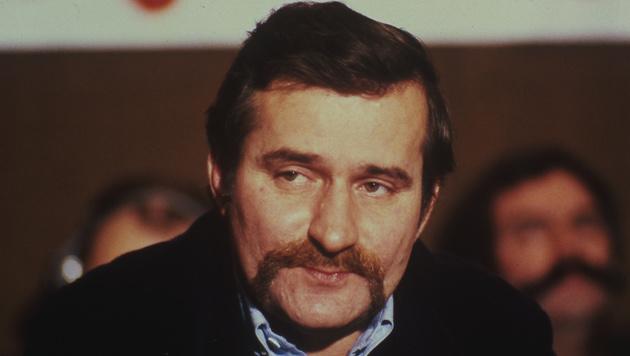 Lech Walesa im Jahr 1981 (Bild: AP)