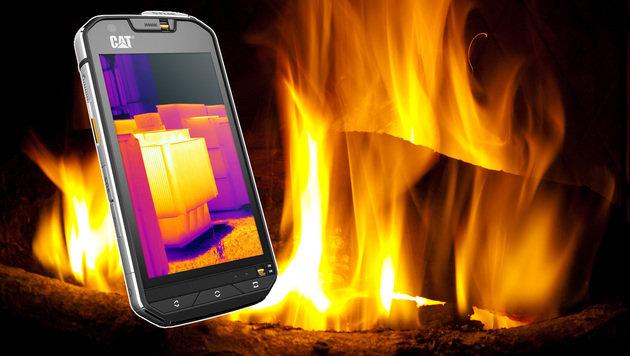 Das erste Smartphone mit Wärmebildkamera kommt (Bild: CAT Phones, flickr.com/William Warby)