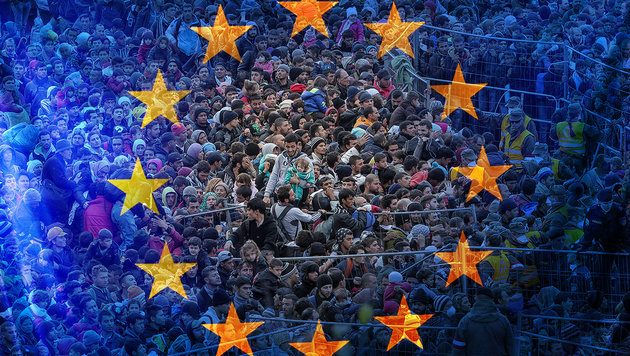 EU-Kommission will die Asyl-Obergrenzen kippen (Bild: APA/EXPA/Pixsell/Sasa Despot/Zurnal24l, thinkstockphotos.de)