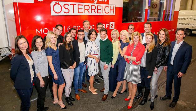 """Die Stars des ORF-Frühfernsehens """"Guten Morgen Österreich"""" (Bild: ORF/Milenko Badzic)"""
