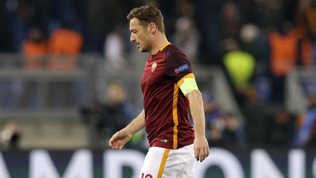 """Totti verbittert: """"Ich zähle hier gar nichts mehr"""" (Bild: AP)"""