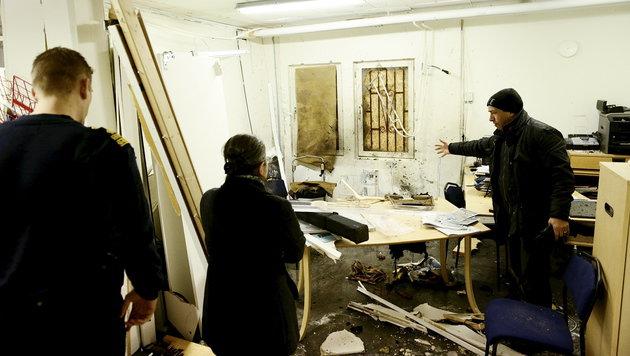 Gro�e Verw�stung im Inneren des Kulturzentrums (Bild: ASSOCIATED PRESS)