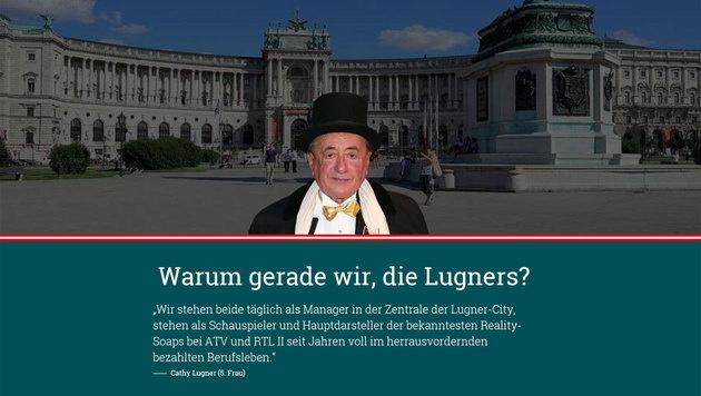 Präsidentenwahl: Satire-Seite narrt Richard Lugner (Bild: moertel16.at)