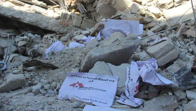 2015 wurden über 60 Spitäler in Syrien angegriffen (Bild: APA/AFP/OMAR HAJ KADOUR)