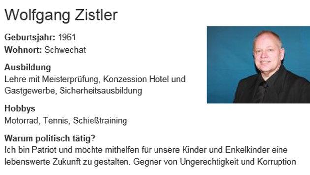 """""""Sexualstraftäter mit Ziegelsteinen kastrieren"""" (Bild: Screenshot/www.schwechat.gv.at)"""