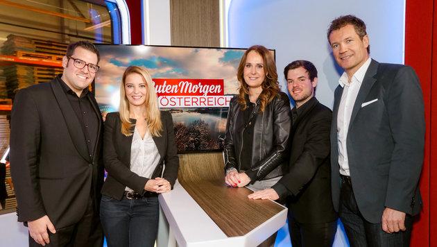Florian Roehlich, Christine Reiler, Maggie Entenfellner,David Kramer und Armin Assinger (Bild: ORF)
