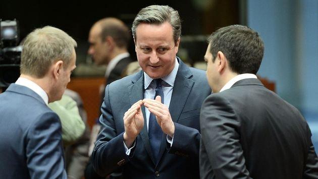 Cameron pocht weiter auf ein Entgegenkommen für sein Land, um einen EU-Austritt abzuwenden. (Bild: AFP)
