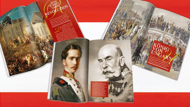116 Seiten �ber �sterreichs am l�ngsten regierenden Monarchen (Bild: Kronen Zeitung)