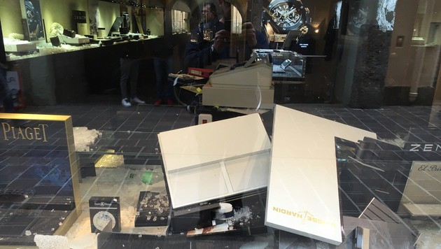 Juwelier in Innsbrucker Altstadt überfallen (Bild: zeitungsfoto.at/Daniel Liebl)