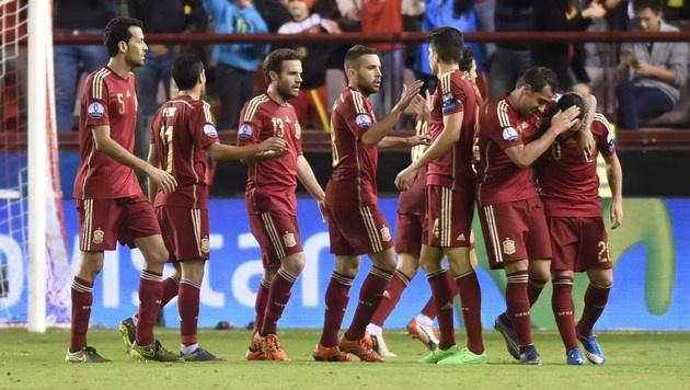 Europameister Spanien spielt in Salzburg (Bild: APA/AFP/ANDER GILLENEA)