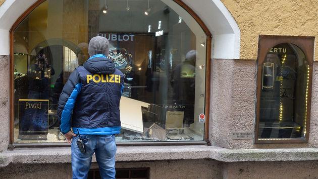 Juwelier in Innsbrucker Altstadt überfallen (Bild: APA/ZEITUNGSFOTO.AT)