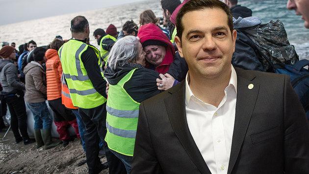 Wie Griechenland jetzt EU und �sterreich erpresst (Bild: APA/AFP, APA/AFP/THIERRY CHARLIER)