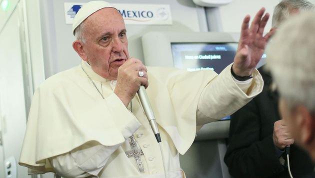 "Papst Franziskus: ""Verhütung ist nichts absolut Böses."" (Bild: APA/AFP/POOL/ALESSANDRO DI MEO)"