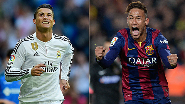 """Bin ein Fan!"" Neymar will Ronaldo bei Barca haben (Bild: APA/AFP/JOSEP LAGO/PIERRE-PHILIPPE MARCOU/ANDER)"