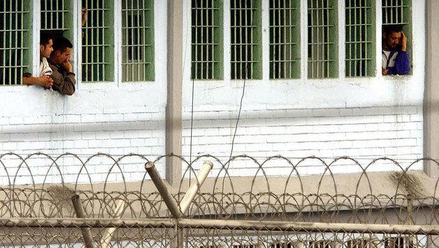 Häftlinge in einem Gefängnis in Kolumbien (Bild: LUIS ACOSTA/AFP/picturedesk.com)