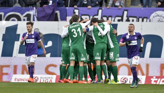 Last-Minute-Tor schockt Austria! 2:2 gegen SVM (Bild: APA/HERBERT NEUBAUER)