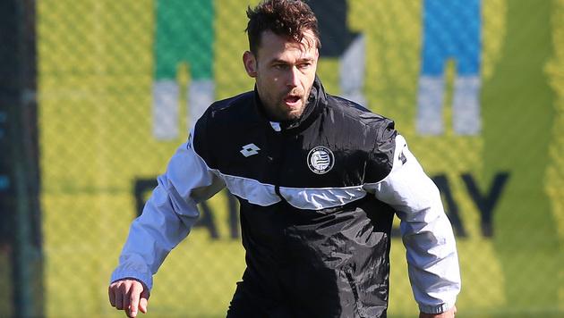 Michael Madl - hier noch in der Trainingskluft von Sturm Graz im Trainingslager in der Türkei (Bild: GEPA)