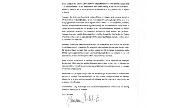 So höflich schickt Mikl-Leitner Götz-Zitat an EU (Bild: BMI)